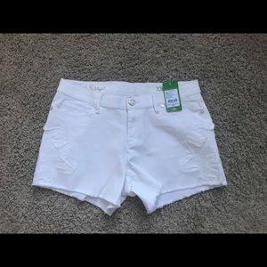 Lilly Pulitzer Izabela white denim shorts